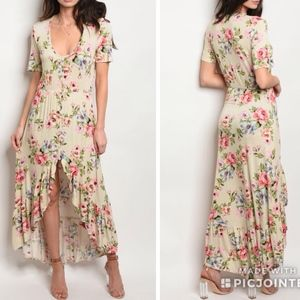 Dresses & Skirts - RESTOCKED! Floral high low maxi dress